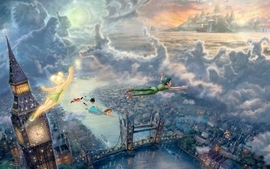 Clouds movies flying architecture children pirates london big wallpaper