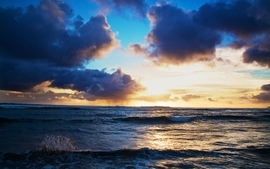 Clouds nature seas skyscapes wallpaper