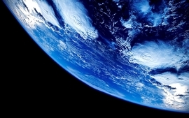 Clouds outer space earth wallpaper