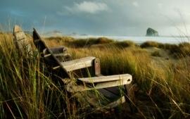 Coast sea grass chairs wallpaper