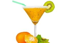 Cocktail drinks kiwi fruits wallpaper