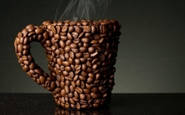 Coffee coffee beans drinks rendered render creativity wallpaper