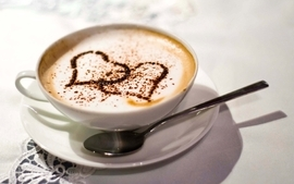 Coffee coffee cups hearts wallpaper