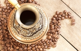 Coffee cups coffee beans mokka wallpaper