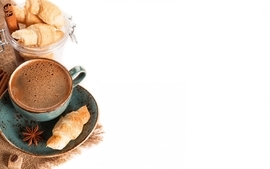 Coffee food croissants wallpaper