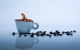 Coffee grain coffee cups wallpaper