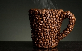 Coffee mug coffee beans beans wallpaper