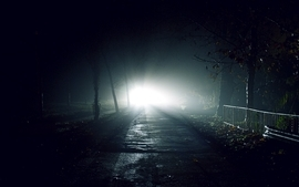 Dark night lights roads flash light wallpaper