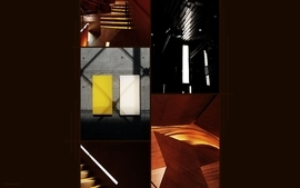 Dark orange architecture modern photomanipulations wallpaper