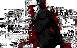 Death note black typography yagami light wallpaper