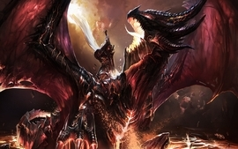 Deathwing digital art world of warcraft cataclysm wallpaper