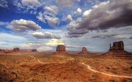 Desert monument valley wallpaper