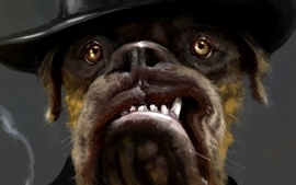 Dogs illustrations mafia artwork bulldog hats wallpaper