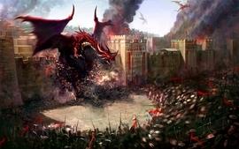 Dragons artwork 3d wallpaper
