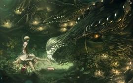 Dragons children fantasy art artwork wallpaper