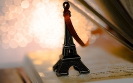 Eiffel tower macro wallpaper