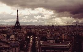 Eiffel tower paris clouds cityscapes cars france buildings wallpaper