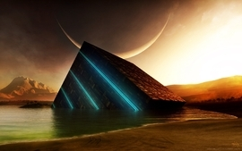 Fantasy futuristic artwork 3d wallpaper