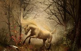 Fantasy landscapes trees unicorns fantasy art artwork wallpaper
