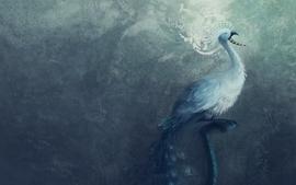 Fantasy minimalistic birds textures wallpaper