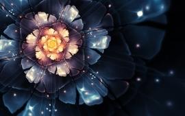 Flowers fractals bloom digital art wallpaper