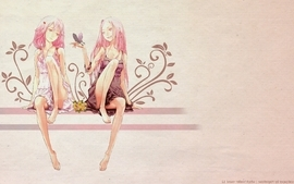 Flowers pink hair drawings anime anime girls guilty crown ouma wallpaper
