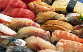 Food meat fish fat cooking wallpaper