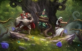 Forest fantasy art trine trine 2 trine 2 goblin menace wallpaper