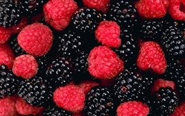 Fruits blackberry fruit raspberries wallpaper