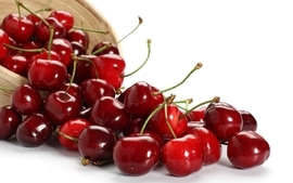 Fruits cherries white background wallpaper