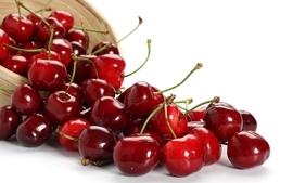 Fruits cherries white background wallpaper
