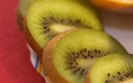 Fruits kiwi macro berries wallpaper