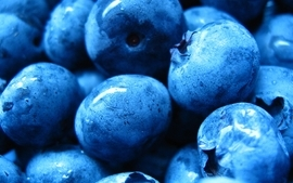Fruits macro blueberries wallpaper