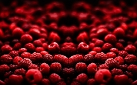 Fruits raspberries 2 wallpaper