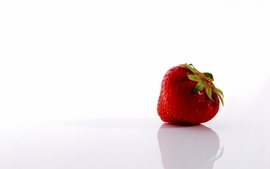 Fruits strawberries simple background wallpaper