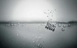 Fuck swim bubbles monochrome greyscale wallpaper