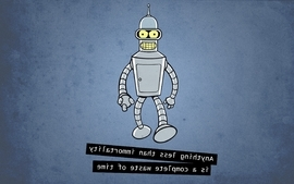 Futurama bender quotes funny wallpaper