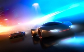 Futuristic cars concept wallpaper