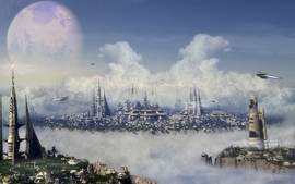 Futuristic fantasy art science fiction artwork wallpaper
