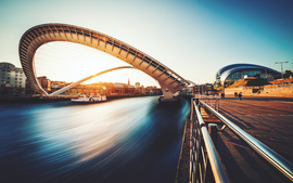 Gateshead Millennium Bridge UK wallpaper
