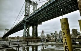 Graffiti bridges new york city manhattan bridge wallpaper