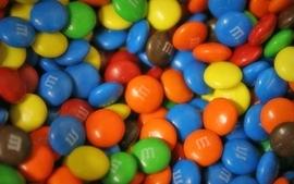 Green blue multicolor orange chocolate fat sugar m and ms wallpaper