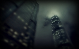 Green cityscapes buildings wallpaper