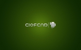 Green computers dark android google brands logos wallpaper