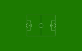 Green minimalistic football field football not soccer wallpaper
