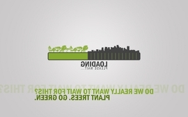Green typography loading wallpaper