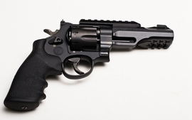 Guns revolvers weapons simple background smith and wesson white wallpaper