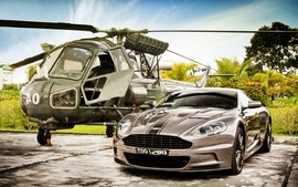 Helicopters cars aston martin chopper wallpaper