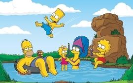 Homer simpson the simpsons bart simpson lisa simpson marge wallpaper