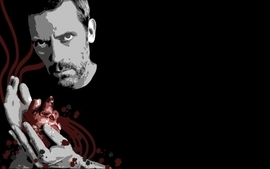 Hugh laurie house md black background wallpaper